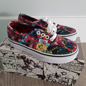 Marvel Comic Book Vans Shoes Kids Size 12 New